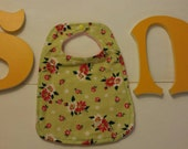 Baby girl floral shabby chic bib ready to ship
