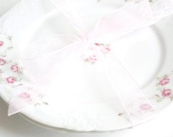 Vintage Plates - Bavaria Germany -Shabby Chic Roses