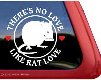There's No Love Like Rat Love | DC188NLJ | High Quality Adhesive Vinyl Rat Window Decal Sticker