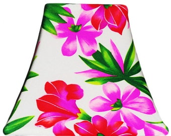 Hawaiian Orchid Slip Cover for your existing lampshade - STRETCH to fit perfectly