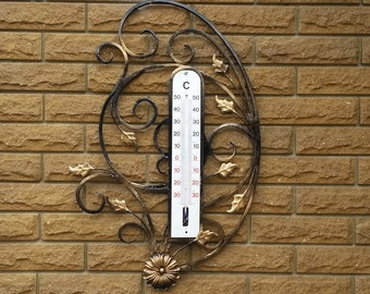 Outdoor thermometer etsy for Thermometres exterieurs