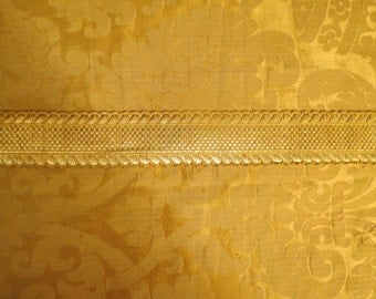 Antique Metallic Gold Trim From France
