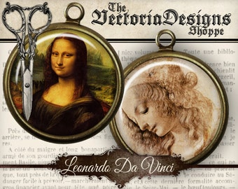 Leonardo Da Vinci Circles - 1 inch / 20mm / 18mm / 16 mm / 14mm / 0.5 inch - VDCIVI0056
