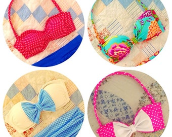 Custom Bikini Top - Made To Order - Choose Your Style, Fabric and Size!!