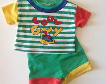 80's Cool Guy Shorts & Top (6/9 months)