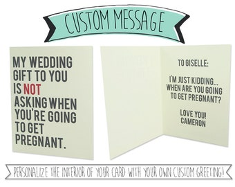 Custom Greeting Inside Card - Have your card personalized with a greeting printed on the interior of your card