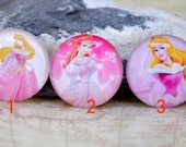Circle Pink Fairy Princess Handmade photo glass cabochon dome bead 10mm 12mm 14mm 16mm 18mm 20mm 22mm 25mm 30mm For Ring Necklace Bracelet