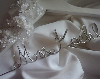 Gifts To Bride From Maid of Honor, Custom Bridal Hanger