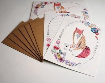 Letter Writing Set - Be Leaf Fox Design