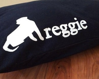 Dark Wash DENIM Furlap Personalization (Included), Zipper free, Flippable Dog Bed Cover , Machine washable, Dryer Safe