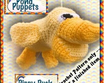 PDF Crochet Pattern Dippy Duck Puppet
