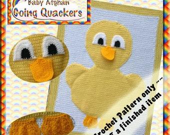 PDF Crochet Pattern Going Quackers Baby Afghan