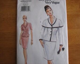 Vogue Pattern 9419 Misses' Top & Skirt   1996    Uncut