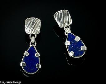 Blue Tango - Lapis Lazuli Sterling Silver earrings