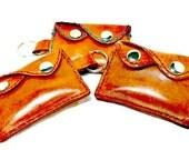 Key chain Wallet - Mini Wallet - Minimalist Wallet - Credit Card Wallet - wallet card holder - leather wallet - girlfriend gift - Mom Gift