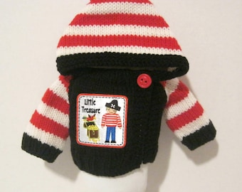Pirate Hoodie for 15-16 Inch Dolls