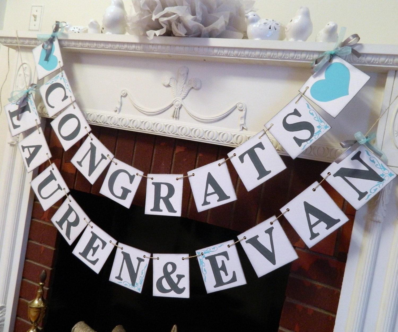 bridal shower decorations engagement party banner congrats banners