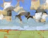 Make Full the Day — Original Oil Painting, Landscape Painting, Abstract Landscape, Original Painting, Abstract Oil Painting, Fine Art, 5 x 7