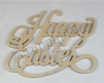 Happy Easter Wooden Wall Decor - This item makes a great addition to a wreath or as a wall decoration