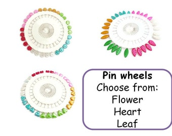 Pin wheel pearl pins sewing long pin craft leaf pin flowers