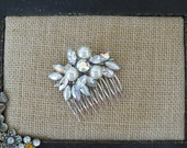 Gorgeous Vintage Hair Comb...Bridal Comb...1960s Judy Lee...Upcycled...Repurposed Vintage