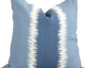 Blue Stripe Ikat, Thom Filicia  Kravet Decorative Pillow Cover 20x20 toss pillow, accent pillow, throw pillow