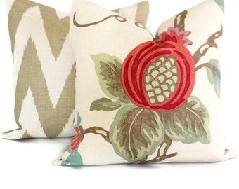 Decorative Pillow Covers, Lee Jofa Mandovi  18x18, 20x20 or 22x22, or lumbar pillow, Floral pillow, Toss Pillow, Accent pillow
