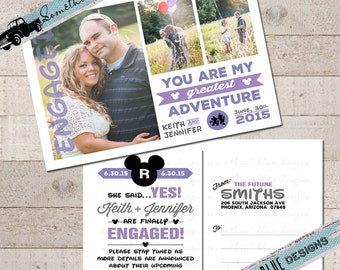 Disney Inspired // Save the Date // Photo Postcard // Engagement Announcement // UP! Inspired