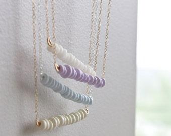 Choose Your Colour Pastel Bead Bar Necklace