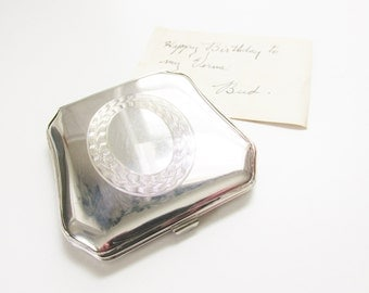 Vintage Sterling Powder Compact Art Deco 1930s England