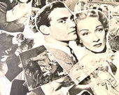 25 Individual Vintage Black and White Retro Men and Women Photos 1950s Film Stars Hollywood Movies Pictures Love Mixed Media Pack Paper