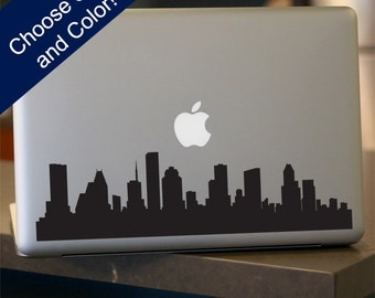 Houston Skyline Decal - For Car Window, Laptop, Wall