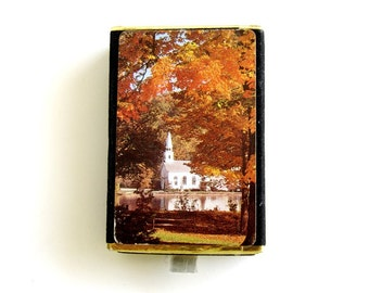 Vintage Congress Playing Cards Cel-U-Tone Finish Church Scene NOS