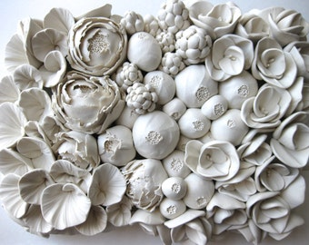 Floral Wall Sculpture Tile (or Design your own)