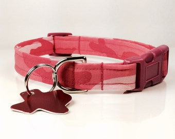 Pink Camo Dog Collar - Adjustable
