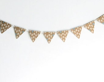Rain Drop Bunting, Kraft Paper Banner, Triangle Drop Streamer, Geometric Garland, Modern Home Decor, Baby Nursery Decoration