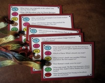 Trivial Pursuit Card Tags - 10 Gift Tags, Name Tags, Wine Tags - Fun and Unique Upcycled Tags