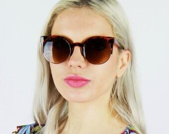 Tortoiseshell 60's Style Browed Sunglasses