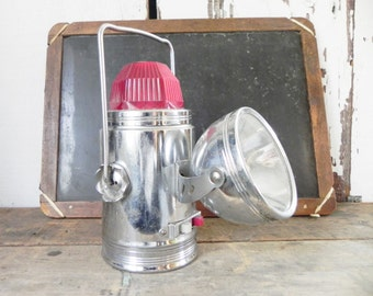 Vintage 1950s Ash Flash Railroad Style Flashlight Lantern