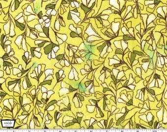 Scattered Buds - Yellow by Laura Gunn from Michael Miller