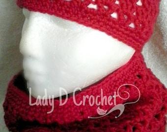 Crocheted Neckwarmer/Earwarmer Set