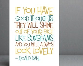 Roald Dahl Quote - The Twits. Typography Print. 8x10 on A4 Archival Matte Paper