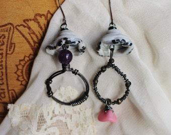 Handmade Romantic Steampunk Boho Earrings