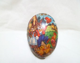 Vintage Easter Egg Large Paper Candy Container Made in E GERMANY Democratic Republic