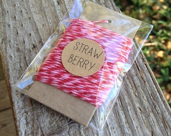 10 Yards • Timeless Twine Baker's  Twine / String • 4-Ply • 100% Cotton •  Gift Wrap • Craft   • Strawberry