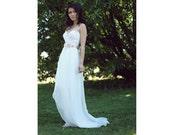 Long Chiffon Wrap Skirt, Chiffon Skirt, Simple Wedding Dress ADD On to Short Wedding Dress, Elegant Wedding Gown, Wedding dress alternative