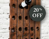 Wood Wine Rack Antique Riddling Style Wall Hanging