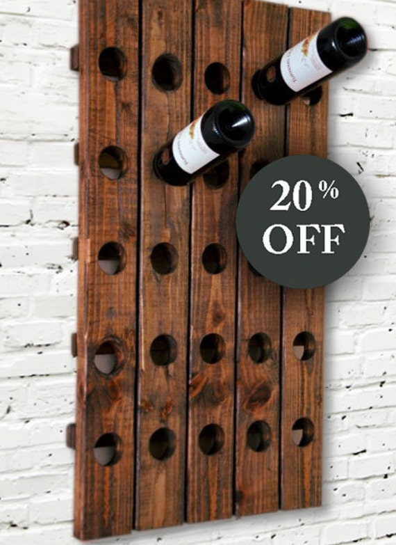 Wood Wine Rack Antique Riddling Style Wall Hanging Sale
