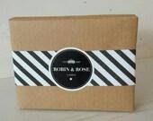 Mini Travel Soaps - pack of 8 natural handmade soaps. Grapefruit, Lemon, Apricot, Wheatgerm & Oat