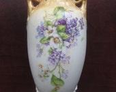 Antique Porcelain Vase Hand Painted